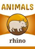 Voor het drukken geschikte dierlijke flitskaart royalty-vrije illustratie
