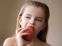 Voor het gezond leven een appel een dag royalty-vrije stock afbeelding