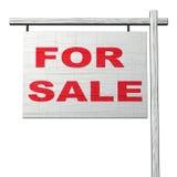 Voor het Teken van de Verkoop Stock Foto's