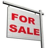 Voor het Teken van de Verkoop Stock Foto
