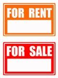 Voor huur/voor verkoop stock illustratie