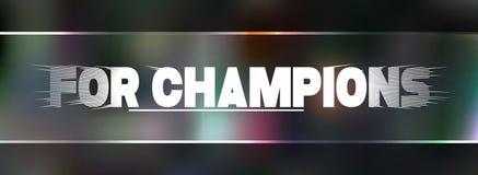 Voor kampioenen lettering Royalty-vrije Stock Foto