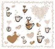 Voor koffieminnaars Stock Foto's