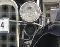 Voor Koplamp van een retro auto Stock Fotografie