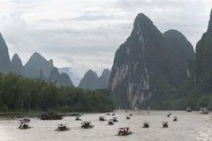 Voor Li River, Guilin, China Stock Foto's