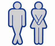 Voor mannen en vrouwen vector illustratie
