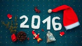 2016 voor Nieuwjaar en Kerstmis Stock Afbeeldingen