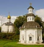Drievuldigheid Lavra van St. Sergius. Kapels Stock Afbeeldingen