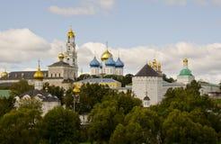 Drievuldigheid Lavra van St. Sergius. Panorama Royalty-vrije Stock Foto