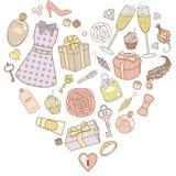 Voor:stellen-voor-vrouw-in-pastelkleur-kleuren royalty-vrije illustratie