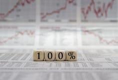 100% voor succes Stock Foto's