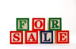 Voor Verkoop: De Blokken van kinderen Royalty-vrije Stock Foto's