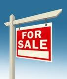 Voor verkoop rood teken Stock Foto's
