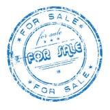 Voor verkoop rubberzegel Stock Fotografie