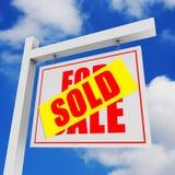 Voor verkoop/verkochte banner Stock Foto's