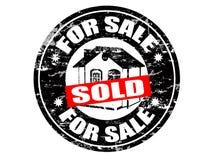 Voor verkoop/verkochte zegel Stock Afbeelding