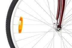Voor wiel van een fiets stock afbeelding