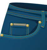 Voor zak van jeans Royalty-vrije Stock Afbeelding