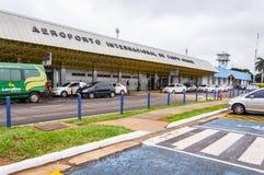 Vooraanzicht van Aeroporto Internacional DE Campo Grande Stock Afbeeldingen