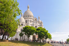 Vooraanzicht van de kathedraal van Sacre Coeur royalty-vrije stock foto