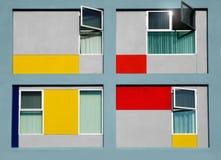 Vooraanzicht van de moderne bouw Stock Foto
