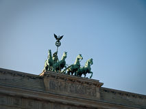 Vooraanzicht van de Poort van Brandenburg royalty-vrije stock fotografie