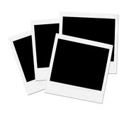 Vooraanzicht van een Polaroidcamera Royalty-vrije Stock Foto's