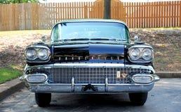 Vooraanzicht van een 1958 Pontiac Bonneville Stock Afbeeldingen