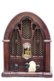 Vooraanzicht van een uitstekende radio Royalty-vrije Stock Afbeeldingen
