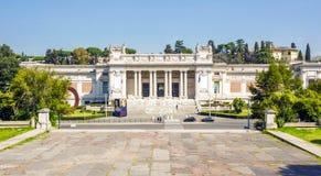 Vooraanzicht van Galleria Nazionale D ` Arte Moderna in Rome Stock Fotografie