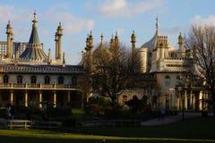 Vooraanzicht van Koninklijk Paviljoen in Brighton stock afbeelding