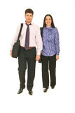 Vooraanzicht van mensen het lopen Stock Afbeelding