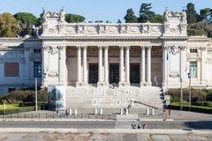 Vooraanzicht van National Gallery van Modern Art. Stock Foto's