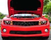 Vooraanzicht van rode sportwagen Royalty-vrije Stock Foto