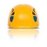 Vooraanzicht van sinaasappel die helm beklimt Royalty-vrije Stock Fotografie