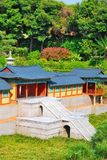Vooraanzicht van tempelarchitectuur royalty-vrije stock afbeelding
