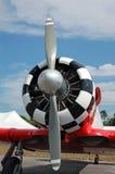 Vooraanzicht van uitstekend vliegtuig Royalty-vrije Stock Foto's