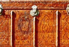 Vooraanzicht van uitstekende koffer Royalty-vrije Stock Foto