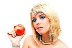 Vooravond en de appel Stock Foto
