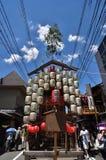 Vooravond van Gion Matsuri-festival, Kyoto Japan in Juli Stock Foto's