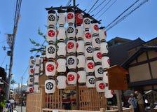 Vooravond van Gion Matsuri-festival, Kyoto Japan in Juli Stock Fotografie