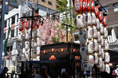 Vooravond van Gion Matsuri-festival, Kyoto Japan in Juli Royalty-vrije Stock Foto's