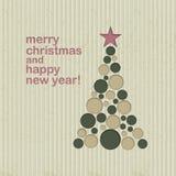 Vooravond van het Kerstmis de nieuwe jaar Royalty-vrije Stock Afbeelding