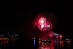 Vooravond 2015 van Sydney New Year vuurwerk Royalty-vrije Stock Afbeelding