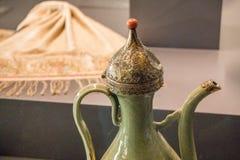 Voorbeeld van de patronen van de Ottomanekunst op metalen stock fotografie