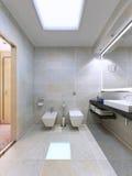 Voorbeeld van heldere badkamers Royalty-vrije Stock Afbeeldingen