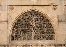 Voorbeeld van Indische architectuur in Ahmadabad, India Stock Fotografie