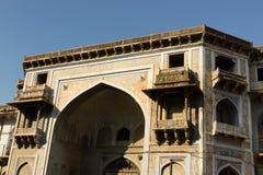 Voorbeeld van Indische architectuur in Ahmadabad, India Stock Foto
