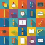 Voorbeeldenboek, pen, potlood en andere apparatuur Stock Afbeelding