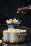 Voorbereide gezouten popcorn Royalty-vrije Stock Fotografie